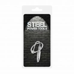 Steel Power Tools - Penis Plug s prstenom, 28 mm