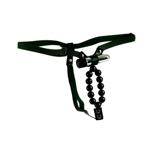 Cal Exotics – Vibrirajuće tanga gaćice s perlicama