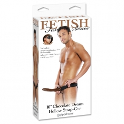 Fetish Fantasy - Strap-on s utorom - Chocolate Dream, 25 cm