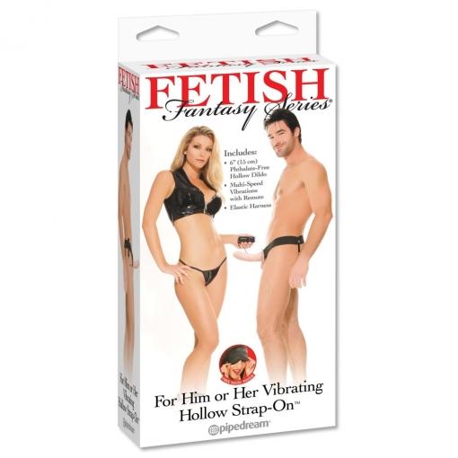 Fetish Fantasy - Vibrirajući strap-on s utorom, 15 cm