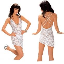 Roxana - Čipkasta mini haljina,