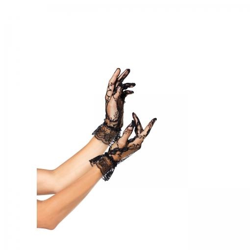 Leg Avenue – Čipkaste rukavice do zapešća