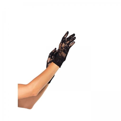 Leg Avenue – Prozirne čipkaste rukavice do zapešća