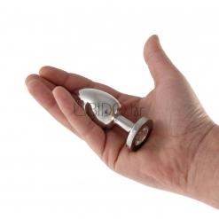 Steel Power Tools – Butt plug s kristalom, medium