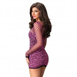 Leg Avenue – Mrežasta haljina s leopard uzorkom