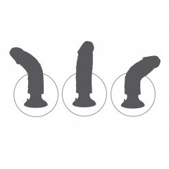 King Cock - Vibrirajući dildo 25 cm