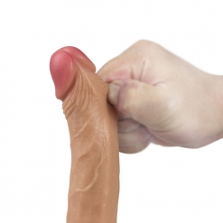 Lovetoy - Dual Layered Silicone Dildo, 18 cm
