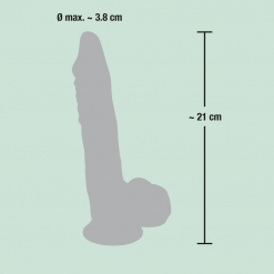 You2Toys - Medical Silicone Dildo 21 cm