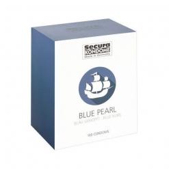 Secura - Blue Pearl teksturirani kondomi, 100 kom