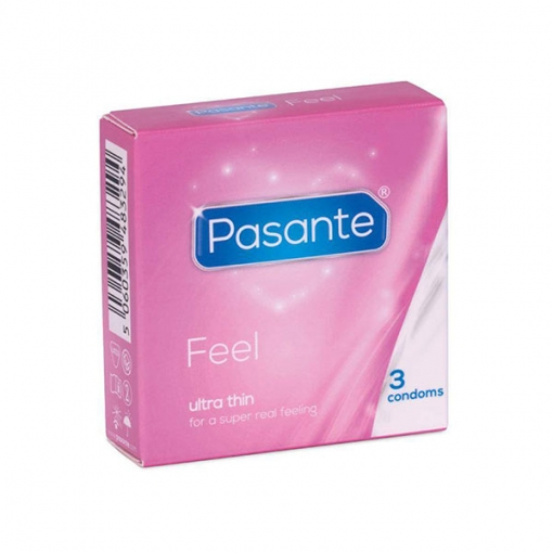 Pasante - Feel Ultra Thin kondomi, 3 kom