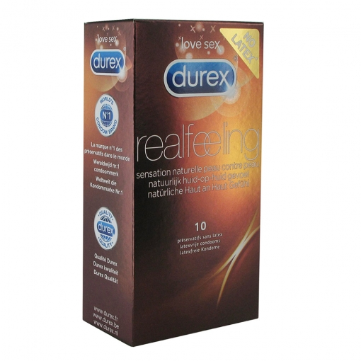 Durex - Real Feeling kondomi bez lateksa, 10 kom