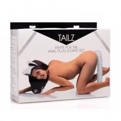 Tailz - White Fox Tail & Ears Set