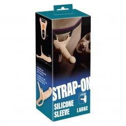 You2Toys - Silikonski strap-on s utorom, 19 cm