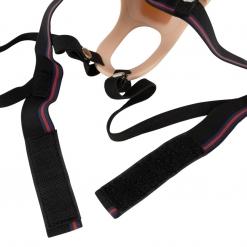 You2Toys - Vibrirajući silikonski strap-on s utorom, 19 cm