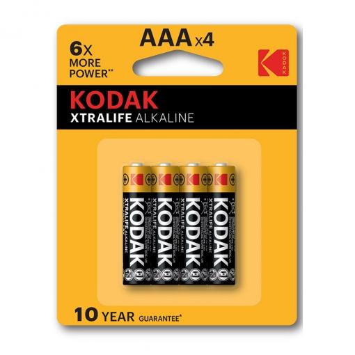 Baterija Kodak Xtralife alkalna AAA, 4 kom