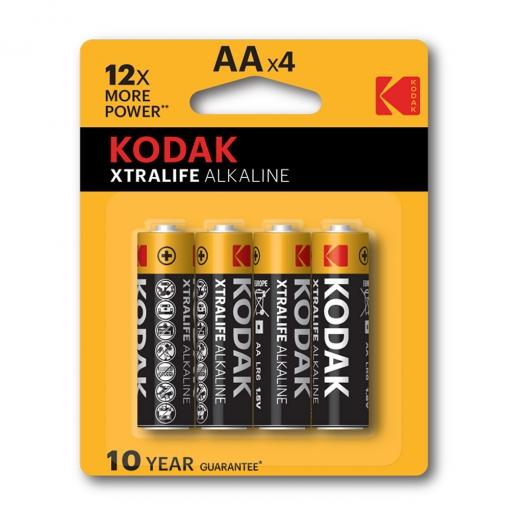 Baterija Kodak Xtralife alkalna AA, 4 kom