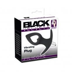 Black Velvets - Vibrirajući Butt Plug Srce