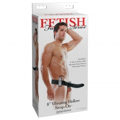 Fetish Fantasy – Vibrirajući strap-on s utorom, 20 cm