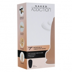 Naked Addiction – Rotating & Vibrating Dong, 18 cm
