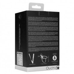 Ouch - Vibrating Silicone Pegger Strap-On