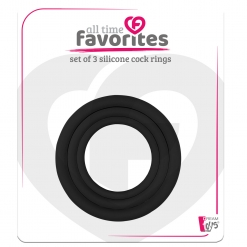 All Time Favorites - Silicone Cock Rings Set, 3 kom